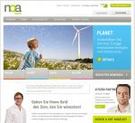 Die Webseite der noa bank