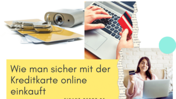 Wie man sicher mit der Kreditkarte online einkauft