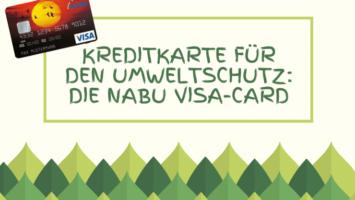 NABU Kreditkarte für den Umweltschutz