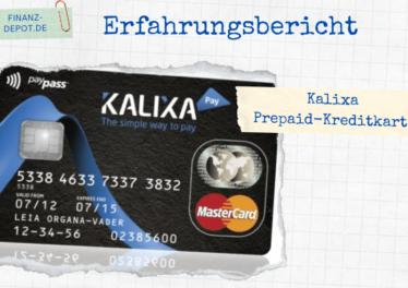 Erfahrungen mit der Kalixa Prepaid-Kreditkarte