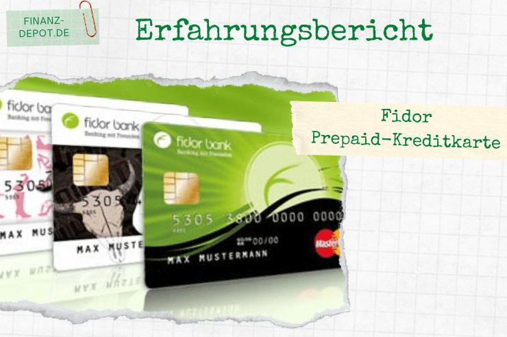 Kostenlose Fidor Prepaid-Kreditkarte im Vergleich