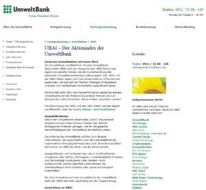UmweltBank-AktienIndex UBAI
